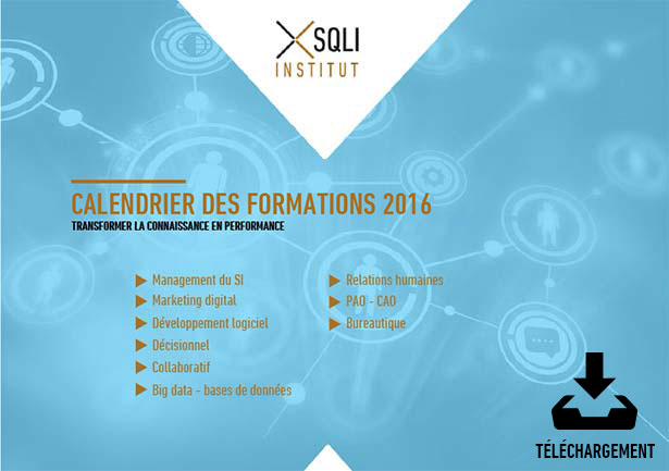 Calendrier des formations 2015